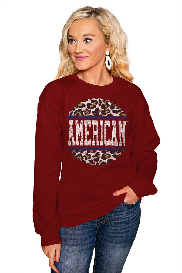 "AMERICAN UNIVERSITY EAGLES ""SCOOP & SCORE"" Perfect Crew Sweatshirt - Gameday Couture"
