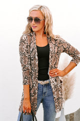 "The ""Exotic Escape"" Knit Snakeskin Cardigan - Gameday Couture"