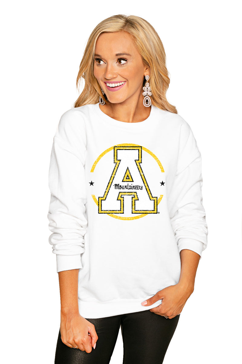 "Appalachian State Mountaineers ""End Zone"" Perfect Cozy Crew Sweatshirt - Shop The Soho"