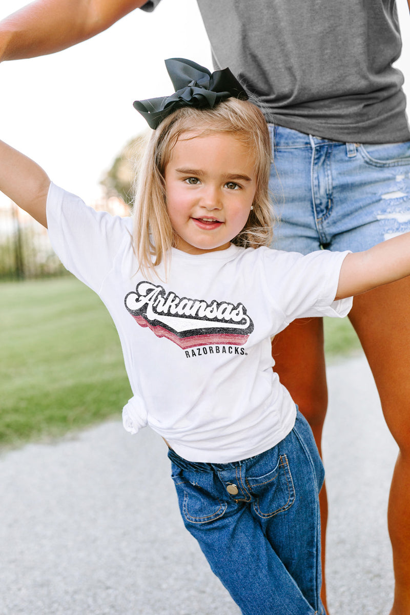 "Arkansas Razorbacks ""Vivacious Varsity"" Toddler Tee - Gameday Couture"