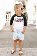 "Arkansas Razorbacks ""Campus Legacy"" Toddler Raglan - Gameday Couture"