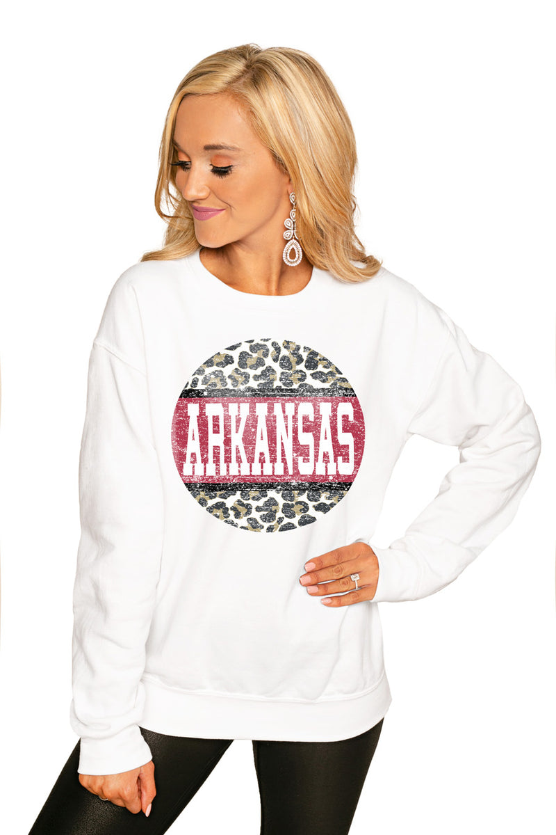 "ARKANSAS RAZORBACKS ""SCOOP & SCORE"" PERFECT COZY CREW SWEATSHIRT - Gameday Couture"