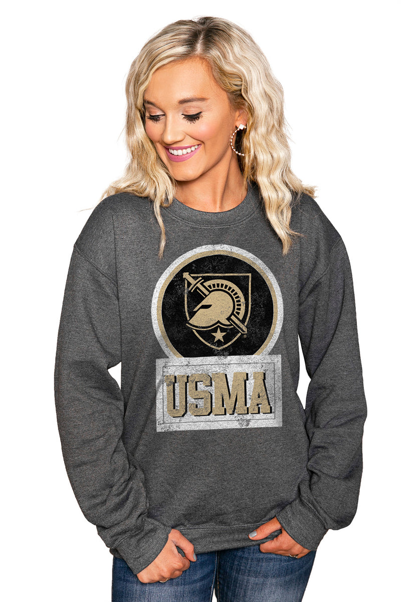 "ARMY BLACK KNIGHTS ""GOOD VIBES"" Perfect Crew Sweatshirt - Gameday Couture"