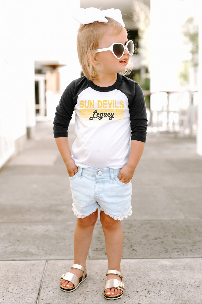 "Arizona State Sun Devils ""Campus Legacy"" Toddler Raglan - Gameday Couture"