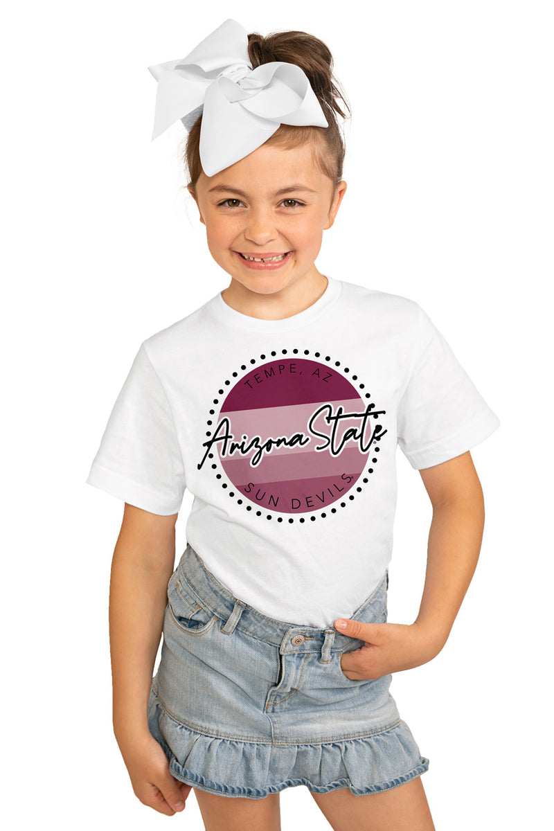 "Arizona State Sun Devils ""Faded And Free"" Youth Short-Sleeved Tee - Gameday Couture"