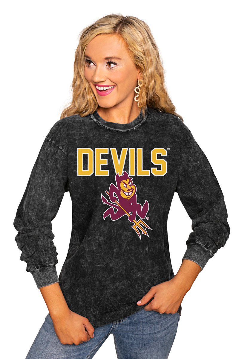 "Arizona State Sun Devils ""Fourth Down"" Retro Mineral Wash Crew - Gameday Couture"