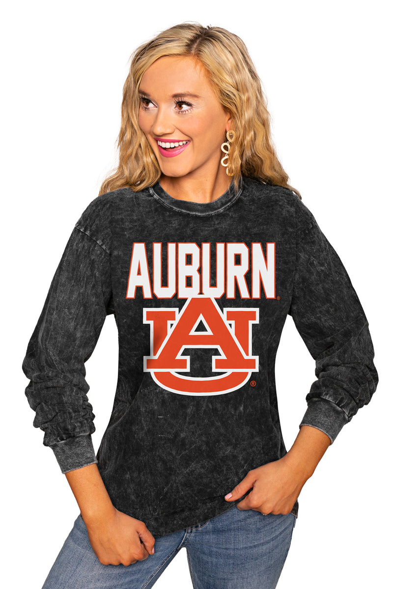 "AUBURN TIGERS ""FOURTH DOWN"" RETRO MINERAL WASH CREW - Gameday Couture"