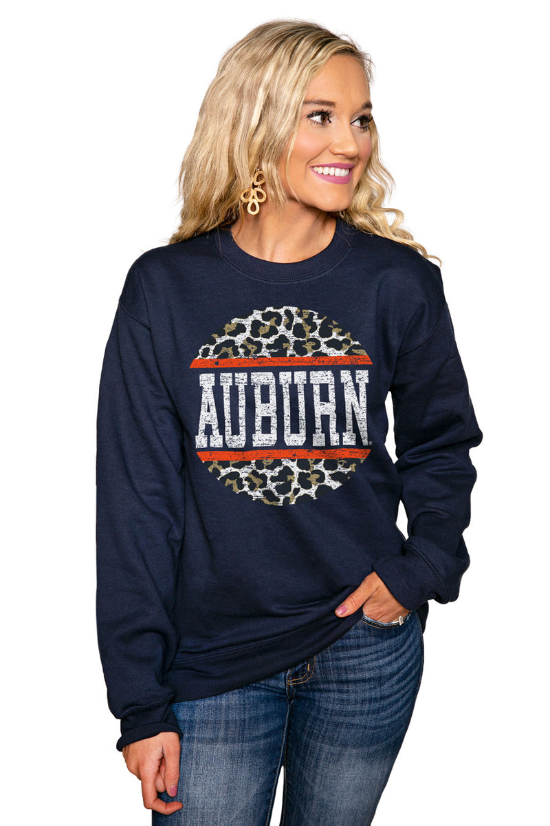"AUBURN TIGERS ""SCOOP & SCORE"" Perfect Crew Sweatshirt - Gameday Couture"