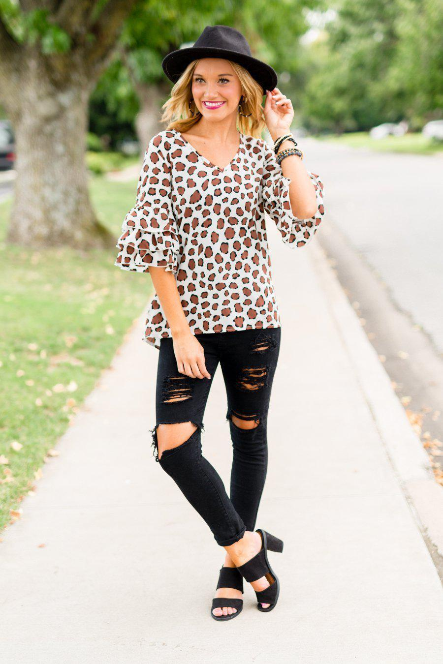 "The ""All My Secrets"" Animal Print Top - FINAL SALE"