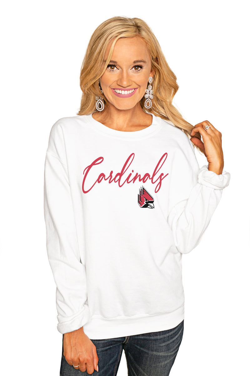 "BALL STATE CARDINALS ""WIN THE DAY"" PERFECT COZY CREW SWEATSHIRT - Gameday Couture"