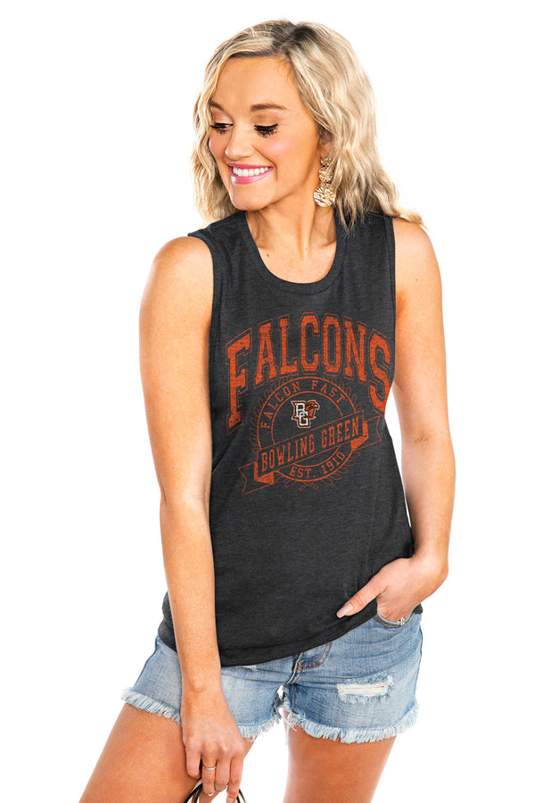 "BOWLING GREEN FALCONS ""NEVER BETTER"" JERSEY MUSCLE TANK - Shop The Soho"