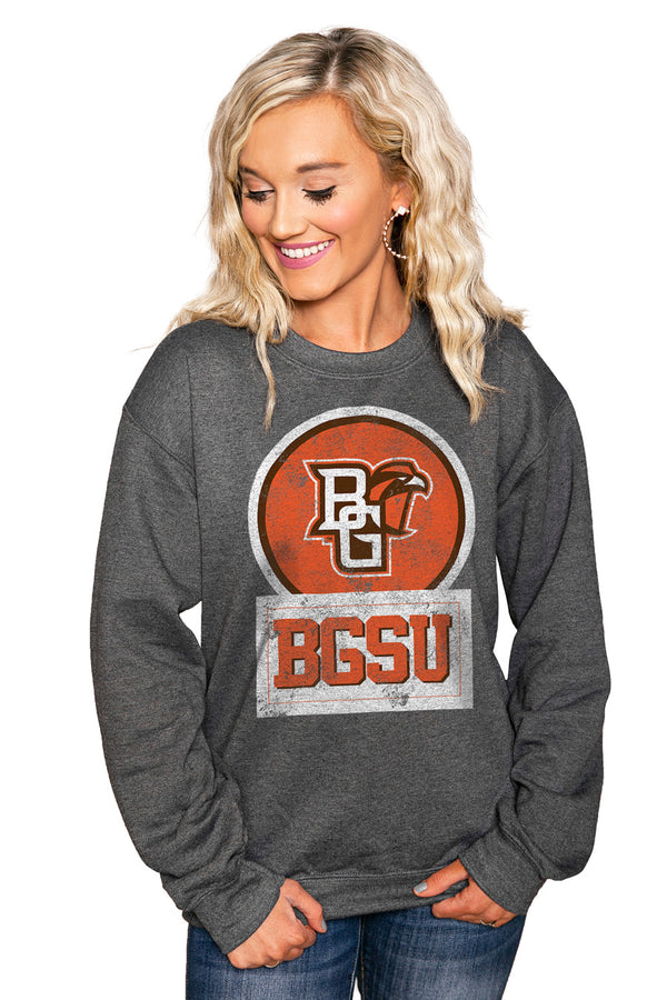 "BOWLING GREEN FALCONS ""GOOD VIBES"" Perfect Crew Sweatshirt - Gameday Couture"