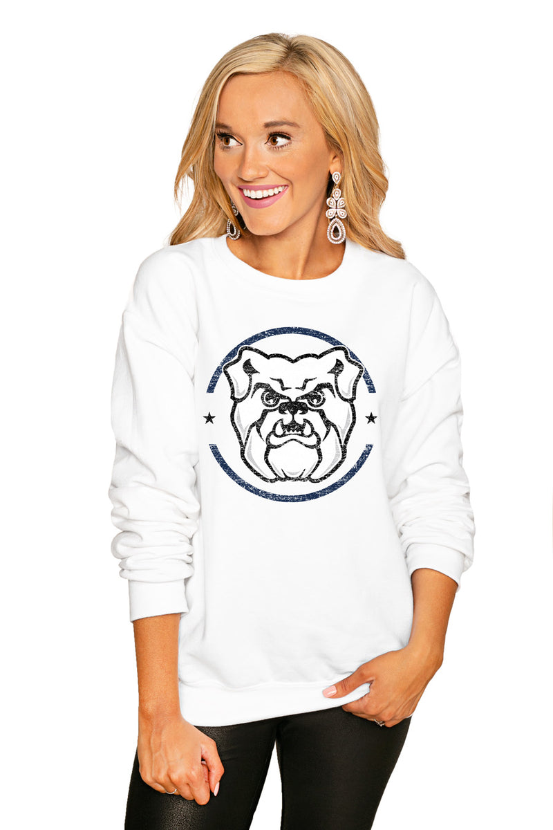 "BUTLER BULLDOGS ""END ZONE"" PERFECT COZY CREW SWEATSHIRT - Gameday Couture"