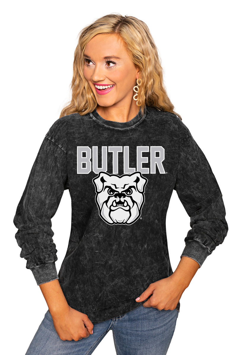 "Butler Bulldogs ""Fourth Down"" Retro Mineral Wash Crew - Gameday Couture"