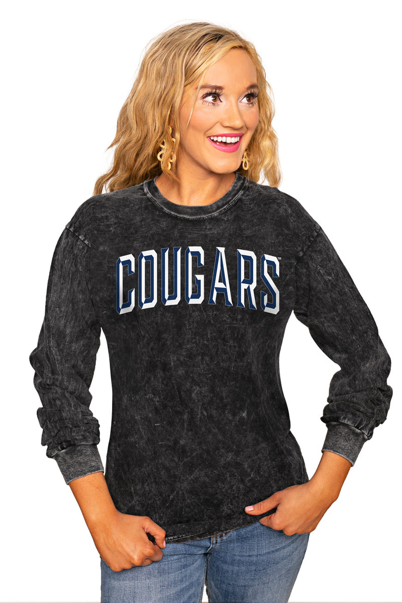 "BYU COUGARS ""GOOD GOING"" RETRO MINERAL WASH CREW - Gameday Couture"