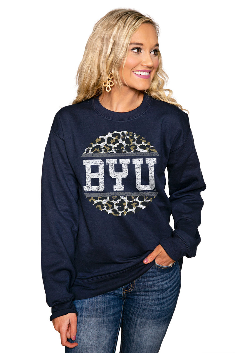 "BYU COUGARS ""SCOOP & SCORE"" Perfect Crew Sweatshirt - Gameday Couture"