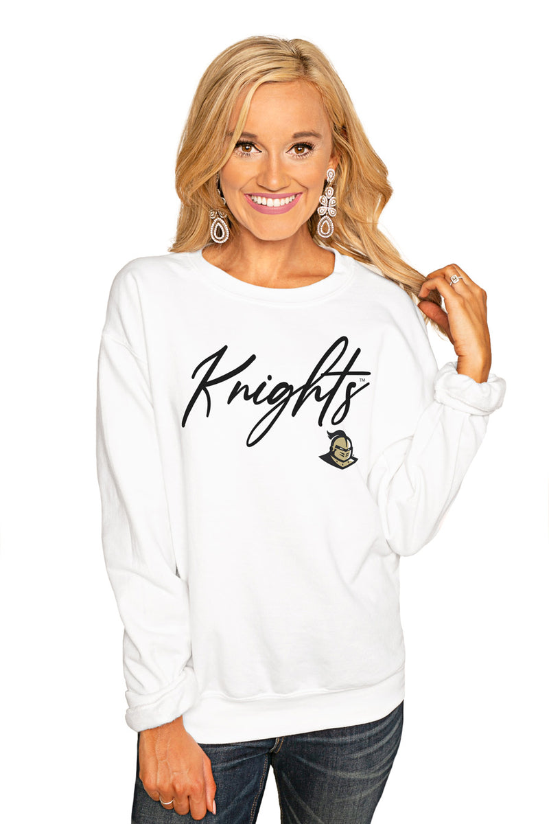 "CENTRAL FLORIDA KNIGHTS ""WIN THE DAY"" PERFECT COZY CREW SWEATSHIRT - Gameday Couture"