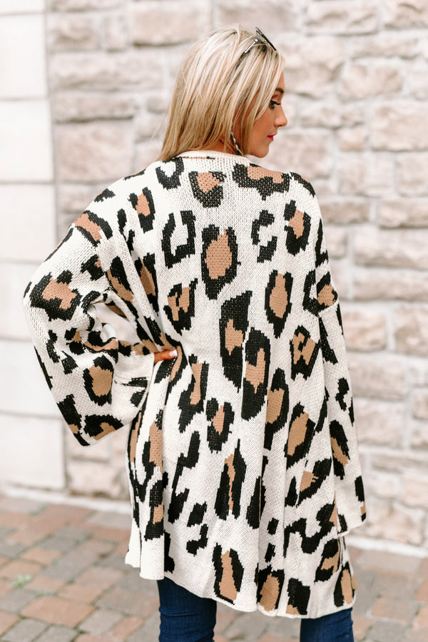 "The ""Change Of Seasons"" Leopard Knit Cardigan"
