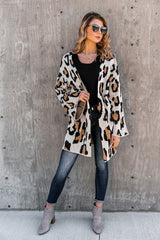 "The ""Change Of Seasons"" Leopard Knit Cardigan - Shop The Soho"