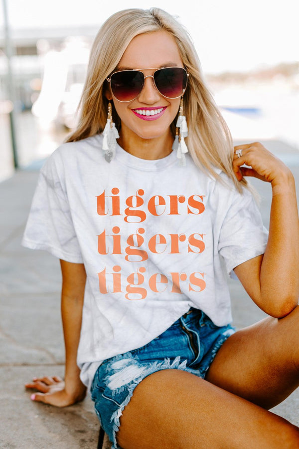"Clemson Tigers ""Sweet Repeat"" Watercolor Spin-Dye Top - Shop The Soho"