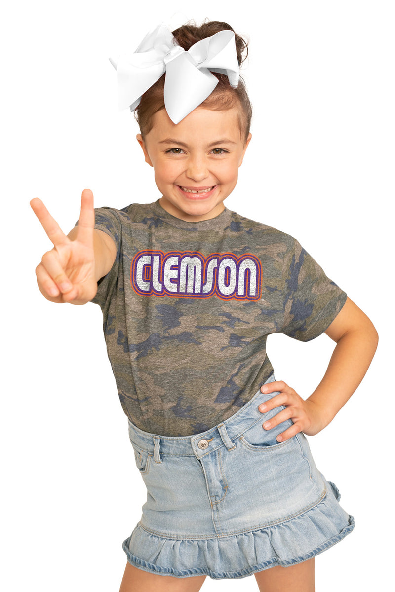 "Clemson Tigers ""It's a Win"" Camo Youth Tee - Gameday Couture"