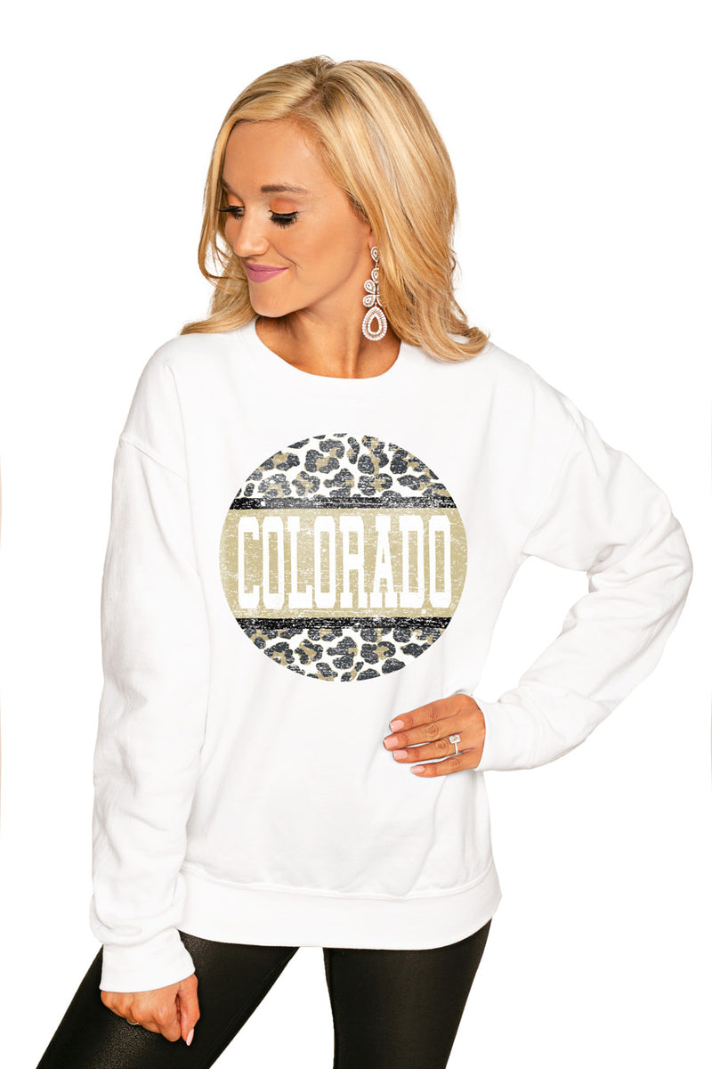 "COLORADO BUFFALOES ""SCOOP & SCORE"" PERFECT COZY CREW SWEATSHIRT - Gameday Couture"