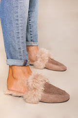 "The ""Cozy Steps"" Fur Slides - Gameday Couture"