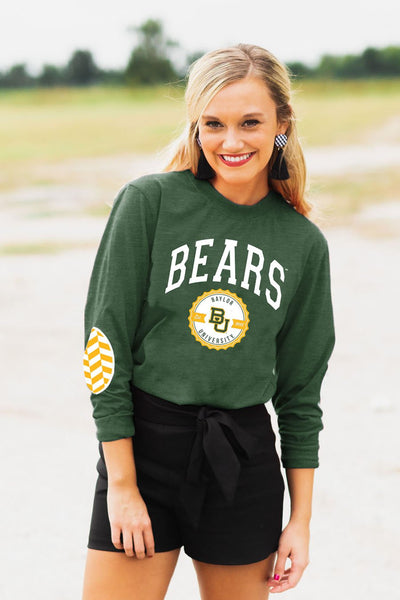 "Baylor Bears ""Patch It Up"" Elbow Patch Tee - Gameday Couture"