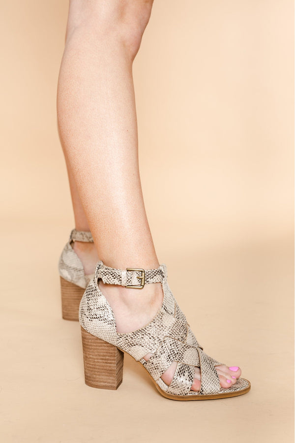 "The ""Cross Roads"" Heels In Snake"