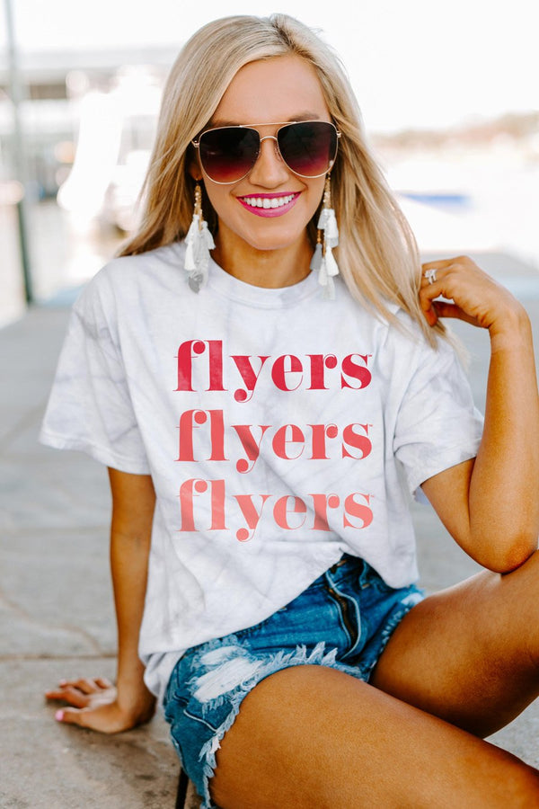 "Dayton Flyers ""Sweet Repeat"" Watercolor Spin-Dye Top - Shop The Soho"