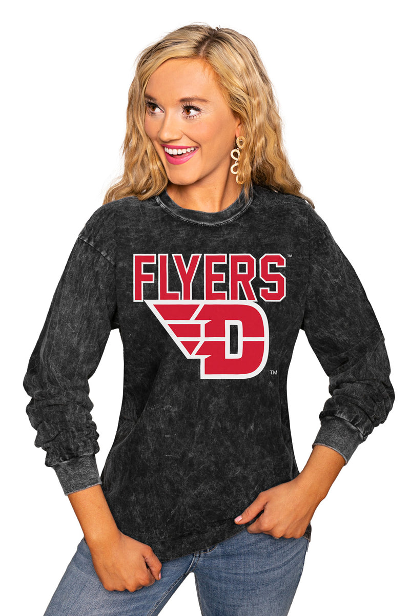 "DAYTON FLYERS ""FOURTH DOWN"" RETRO MINERAL WASH CREW - Gameday Couture"
