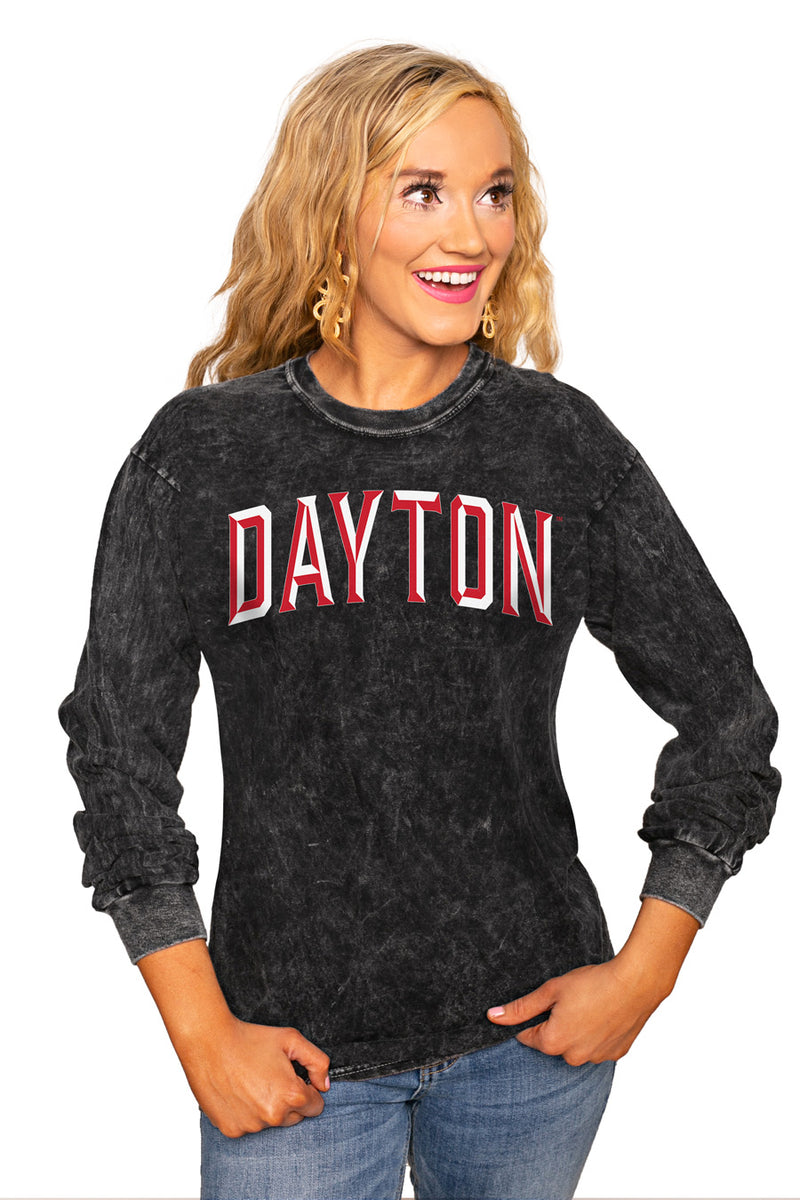 "DAYTON FLYERS ""GOOD GOING"" RETRO MINERAL WASH CREW - Gameday Couture"
