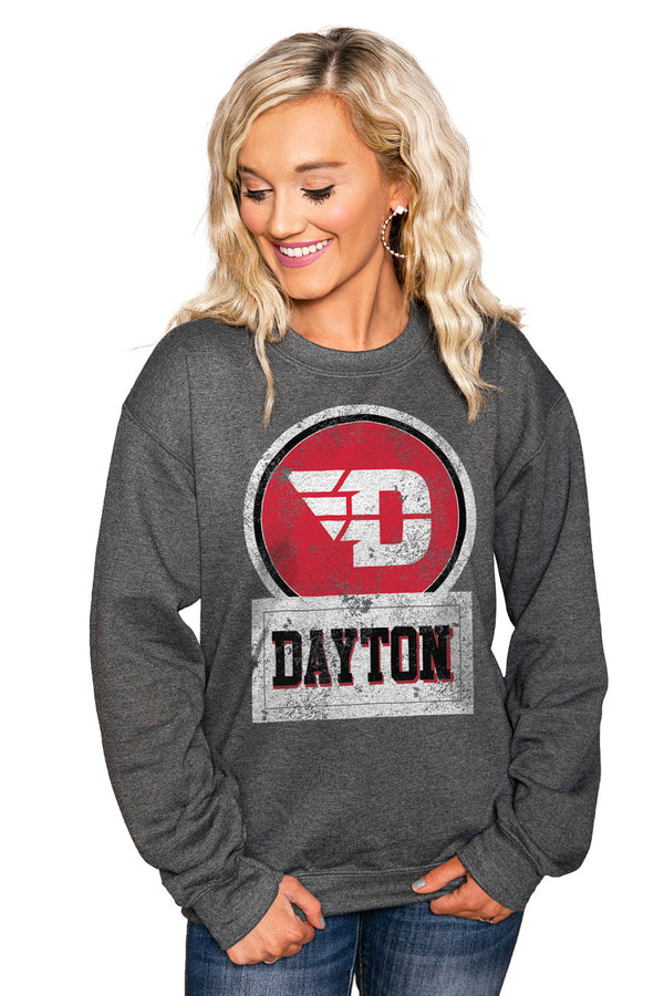 "DAYTON FLYERS ""GOOD VIBES"" Perfect Crew Sweatshirt - Gameday Couture"
