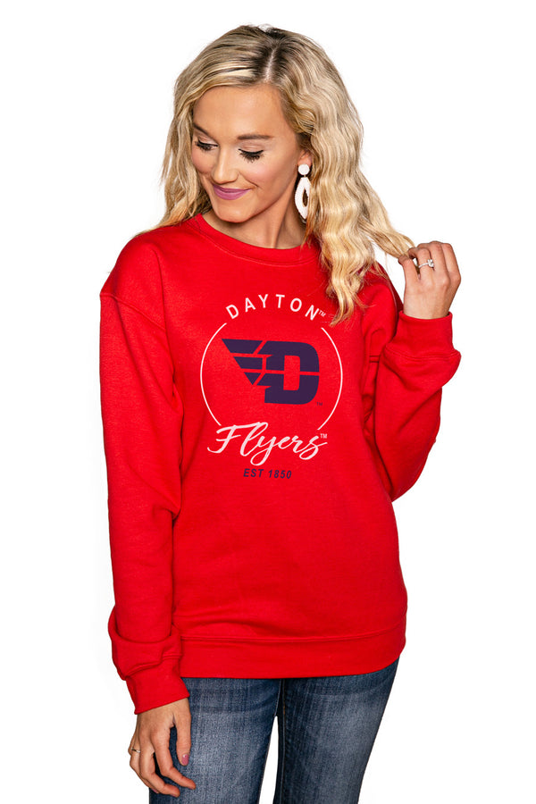"DAYTON FLYERS ""FOR THE HOME TEAM"" Perfect Crew Sweatshirt - Gameday Couture"