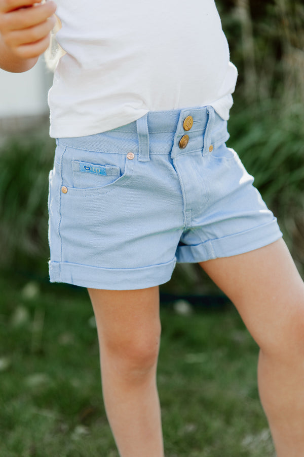 "THE ""DEVI"" COLORED CUFFED GIRLS SHORTS"