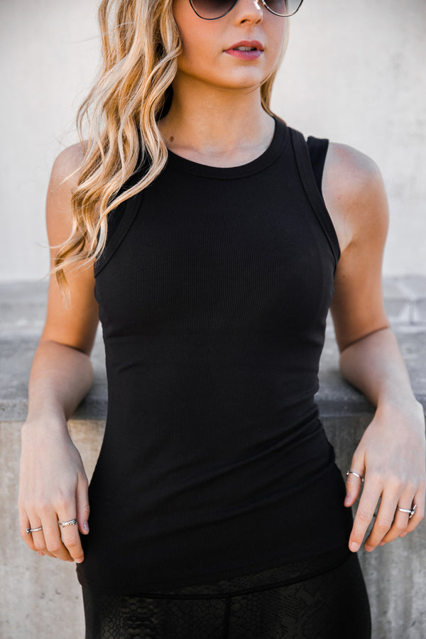 "The ""Drop Everything"" Ribbed Tank Top - Gameday Couture"