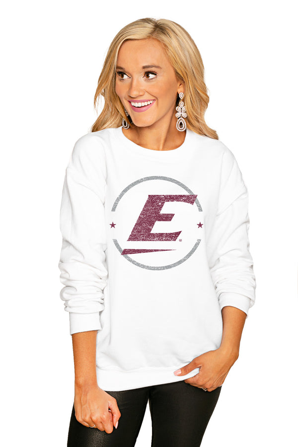 "Eastern Kentucky Colonels ""End Zone"" Perfect Cozy Crew Sweatshirt - Gameday Couture"