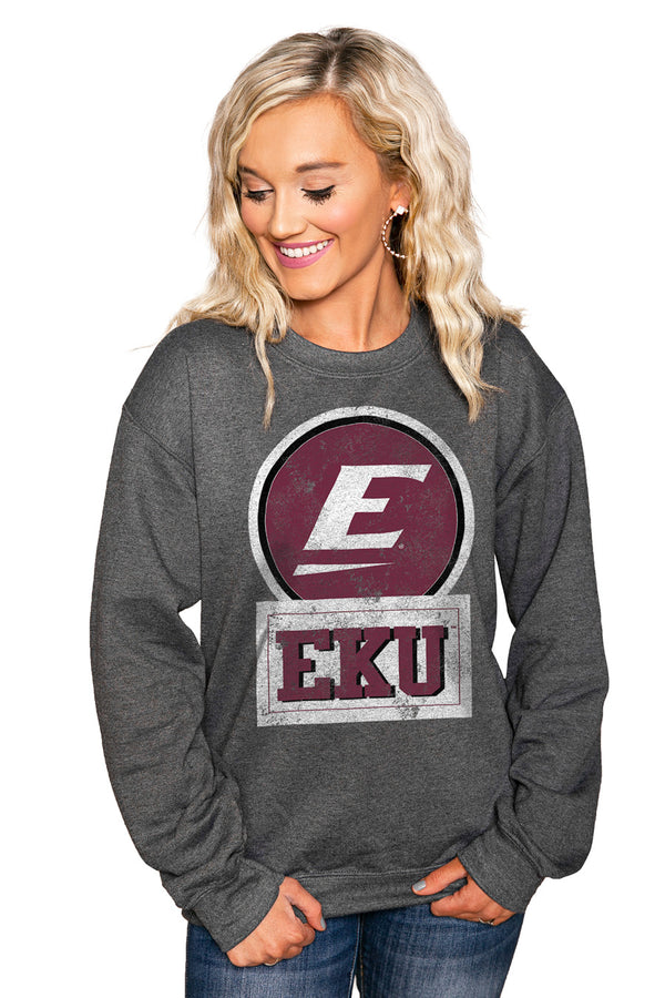 "EASTERN KENTUCKY COLONELS ""GOOD VIBES"" Perfect Crew Sweatshirt - Gameday Couture"