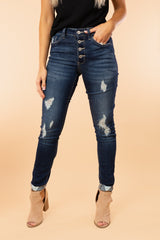 "The ""Evelina"" Denim Jeans - Gameday Couture"