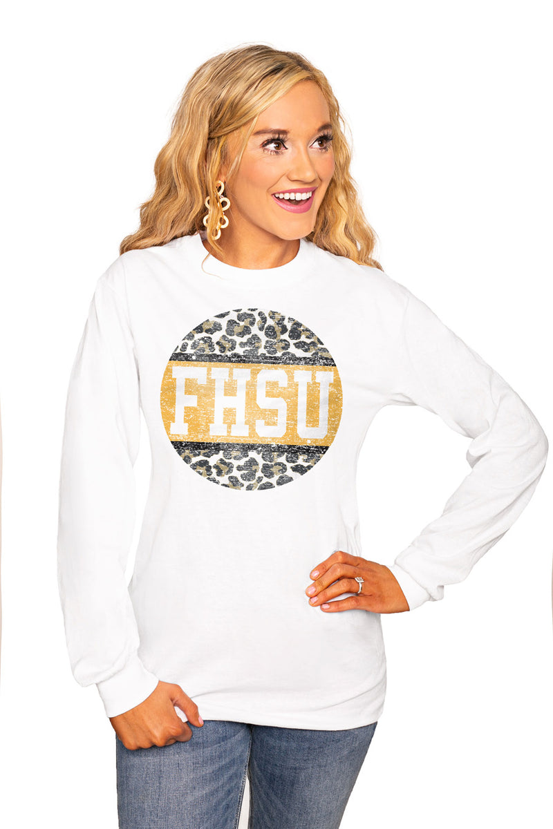 "Fort Hays State Tigers ""Scoop & Score"" Luxe Boyfriend Crew Tee - Gameday Couture"
