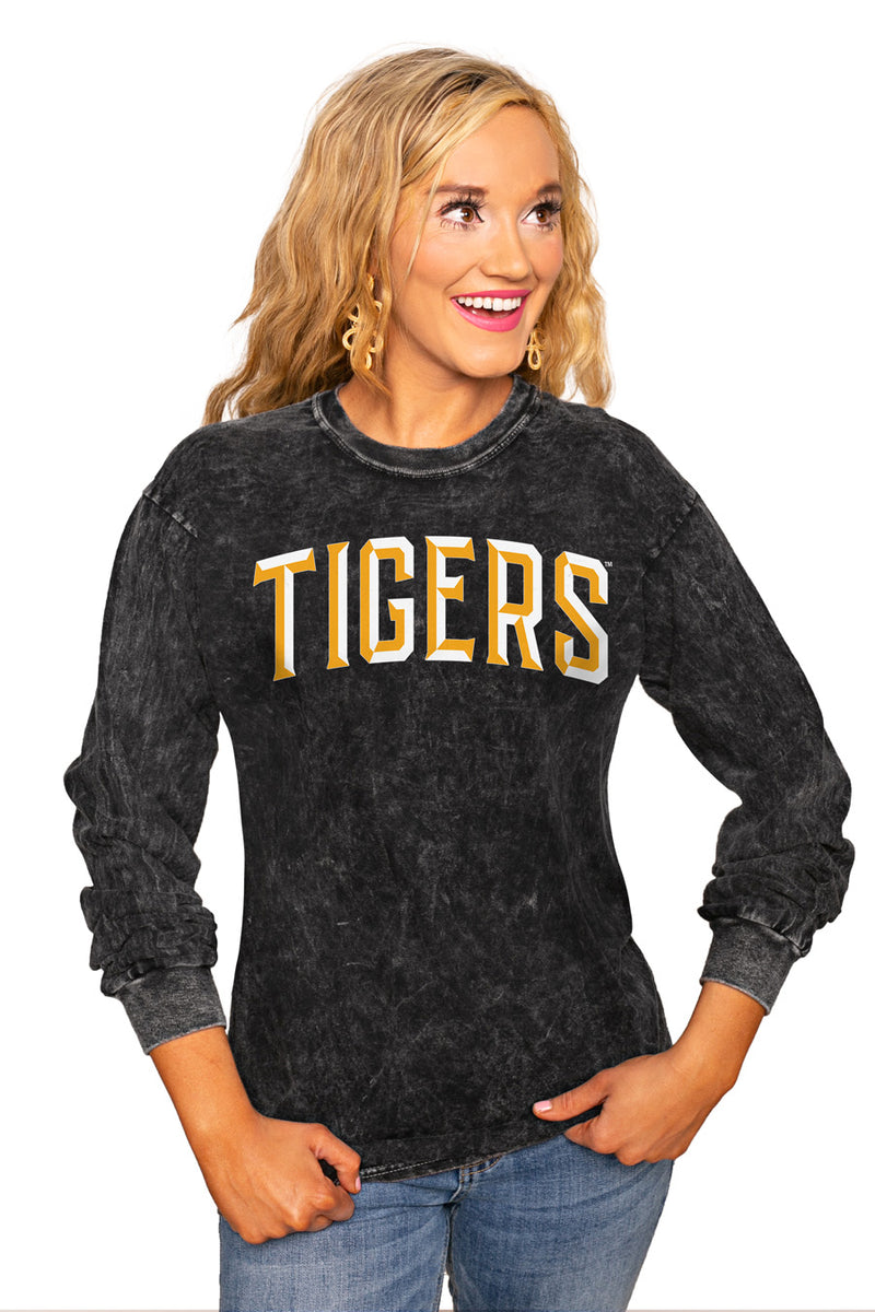 "FORT HAYS STATE TIGERS ""GOOD GOING"" RETRO MINERAL WASH CREW - Gameday Couture"
