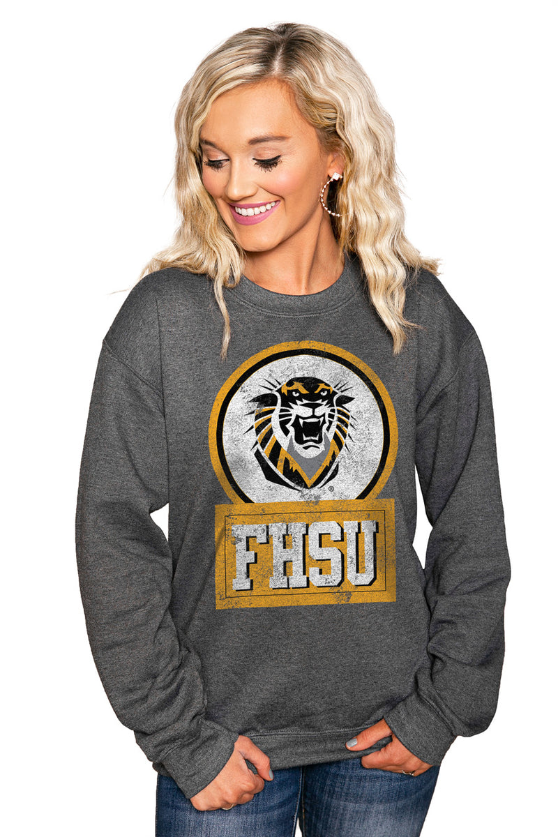 "FORT HAYS STATE TIGERS ""GOOD VIBES"" Perfect Crew Sweatshirt - Gameday Couture"