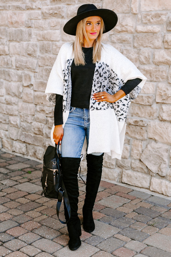"The ""Fiesty Side"" Leopard Print Kimono Cardigan"
