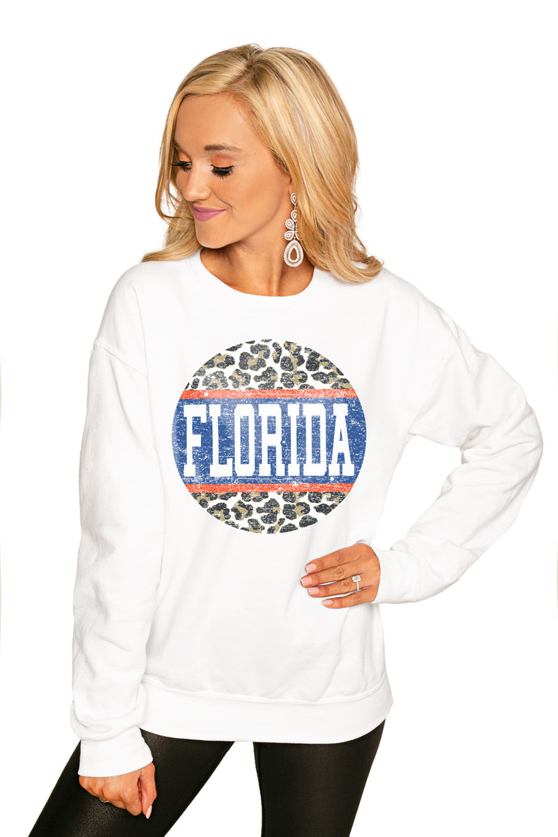 "FLORIDA GATORS ""SCOOP & SCORE"" PERFECT COZY CREW SWEATSHIRT - Gameday Couture"