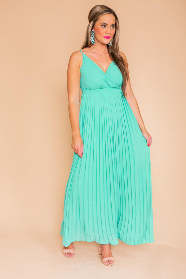 "The ""Flying Colors"" Maxi Dress in Green"