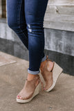 "The ""Following Fun"" Wedges in Taupe"