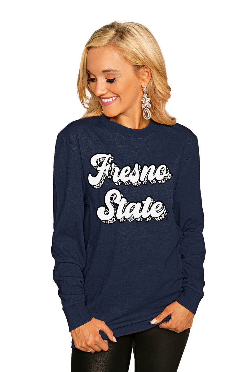 "Fresno State Bulldogs""Game Plan"" Luxe Boyfriend Crew Tee - Shop The Soho"