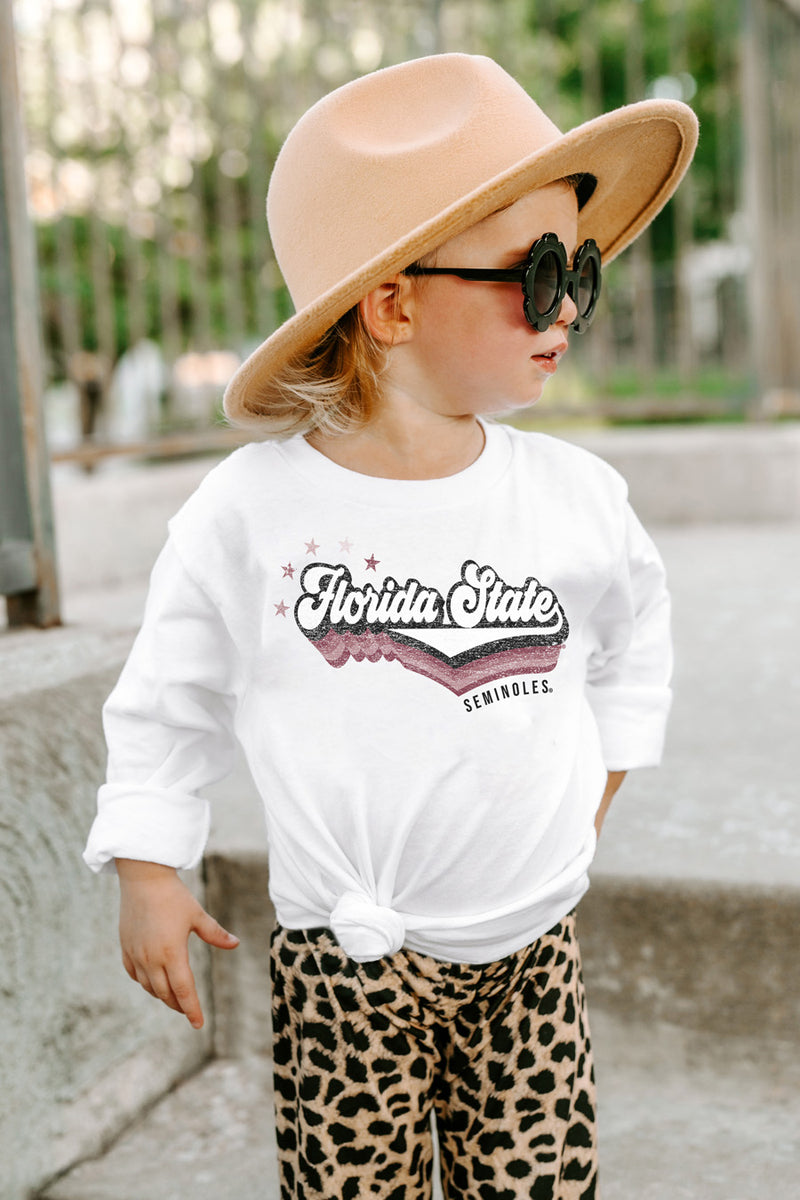 "Florida State Seminoles ""Vivacious Varsity Star"" Toddler Long-Sleeved Tee - Gameday Couture"