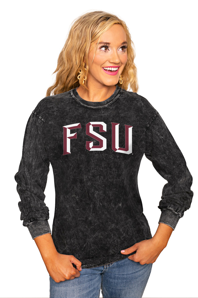 "FLORIDA STATE SEMINOLES ""GOOD GOING"" RETRO MINERAL WASH CREW - Gameday Couture"