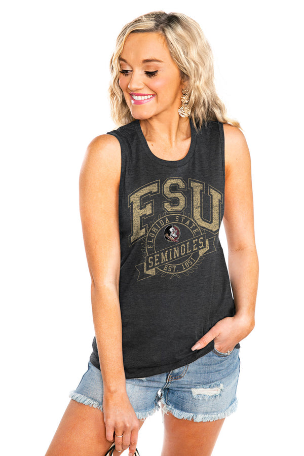 "FLORIDA STATE SEMINOLES ""NEVER BETTER"" JERSEY MUSCLE TANK - Shop The Soho"